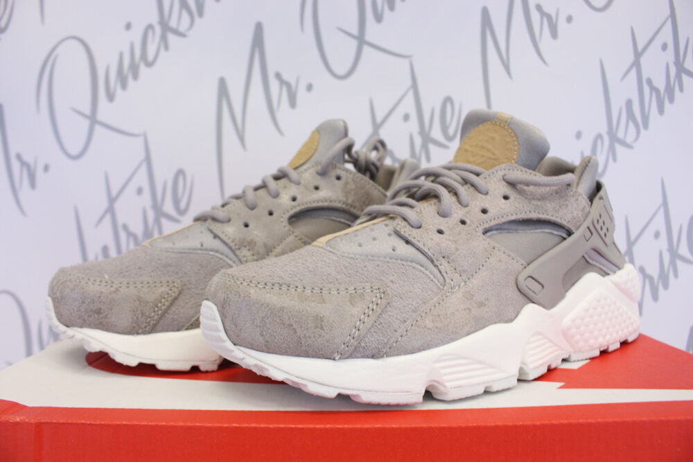 NIKE Damenschuhe AIR 6.5 HUARACHE RUN SUEDE SZ 6.5 AIR COBBLESTONE GREY MUSHROOM 918411 001 f29160