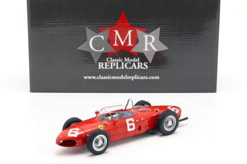 Richie Ginther Ferrari 156 Sharknose #6 3rd Belgien GP Formel 1 1961 1:18 CMR