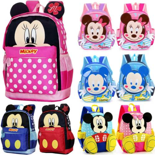 Toddler Kids Cartoon Mickey Mouse Backpack Rucksack Girls Boys Schoolbag Bookbag