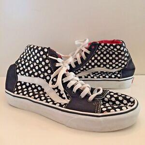 VANS Off The Wall Hi-Top Polka Dot Sneakers Shoes Size Men s 8.5 ... 90ee8fe78