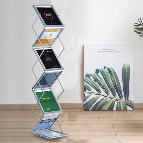 Prospektständer Infoständer Katalogständer Faltbar DIN A4 Hochformat Alu Koffer