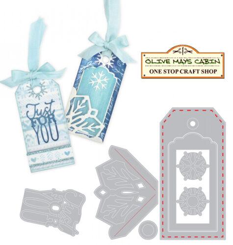Sizzix Tag with Snowflakes 663158 Sizzix Thinlits Die Set 7 Dies
