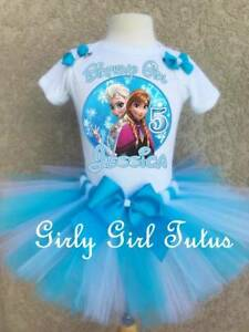 Frozen Elsa Anna and Olaf Birthday Tutu Outfit Party Set Dress