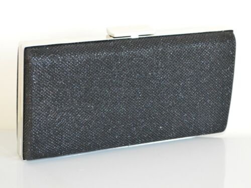 Party Ceremony 830 zwarte Bag Elegante Bag Brillantini Vrouw Clutch x4nq1AC