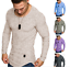 Men-039-s-Casual-New-Long-Sleeve-Shirt-Round-Neck-Basic-Tee-Autumn-Winter-Slim-Top thumbnail 1