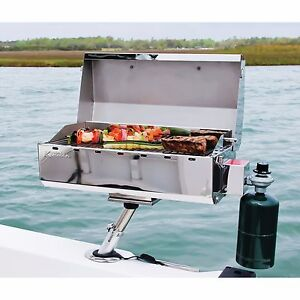 Portable Gas Grill Barbecue Boat Mount Tailgating Camp