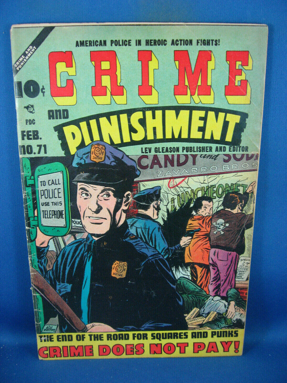 CRIME AND PUNISHMENT 71 VG LEV GLEASON 1954