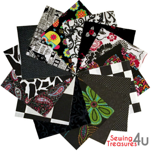 30x PATCHWORK SQUARES CHARM PACK Bundles Packs 100/% COTTON Quilting Fabric