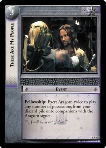 LoTR TCG BoHD Battle of Helm/'s Deep These Are My People 5R41 x2