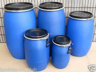 30 220 Liter Deckelfässer Behälter 60 Fässer NEU /& UNBENUTZT 120 Tonnen