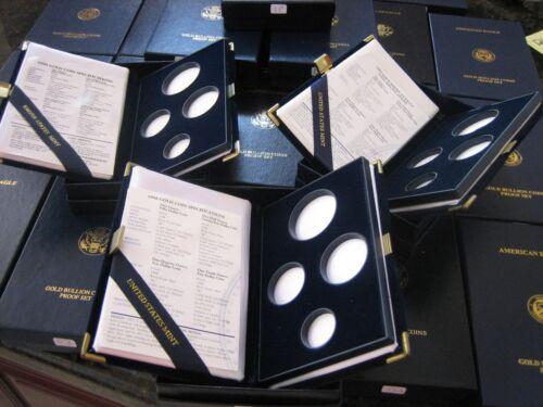 1999 Proof Gold Eagle 4 Piece Original Empty Mint Box /& Certificate COA