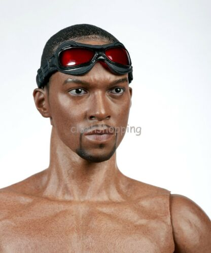 1//6 Scale Captain America Falcon 2.0 Head Sculpt Black Body Action Figure Toys