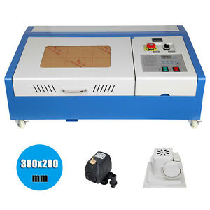 Details about 40W USB CO2 Laser Engraving Cutting Machine Engraver Cutter  with 4 Wheels