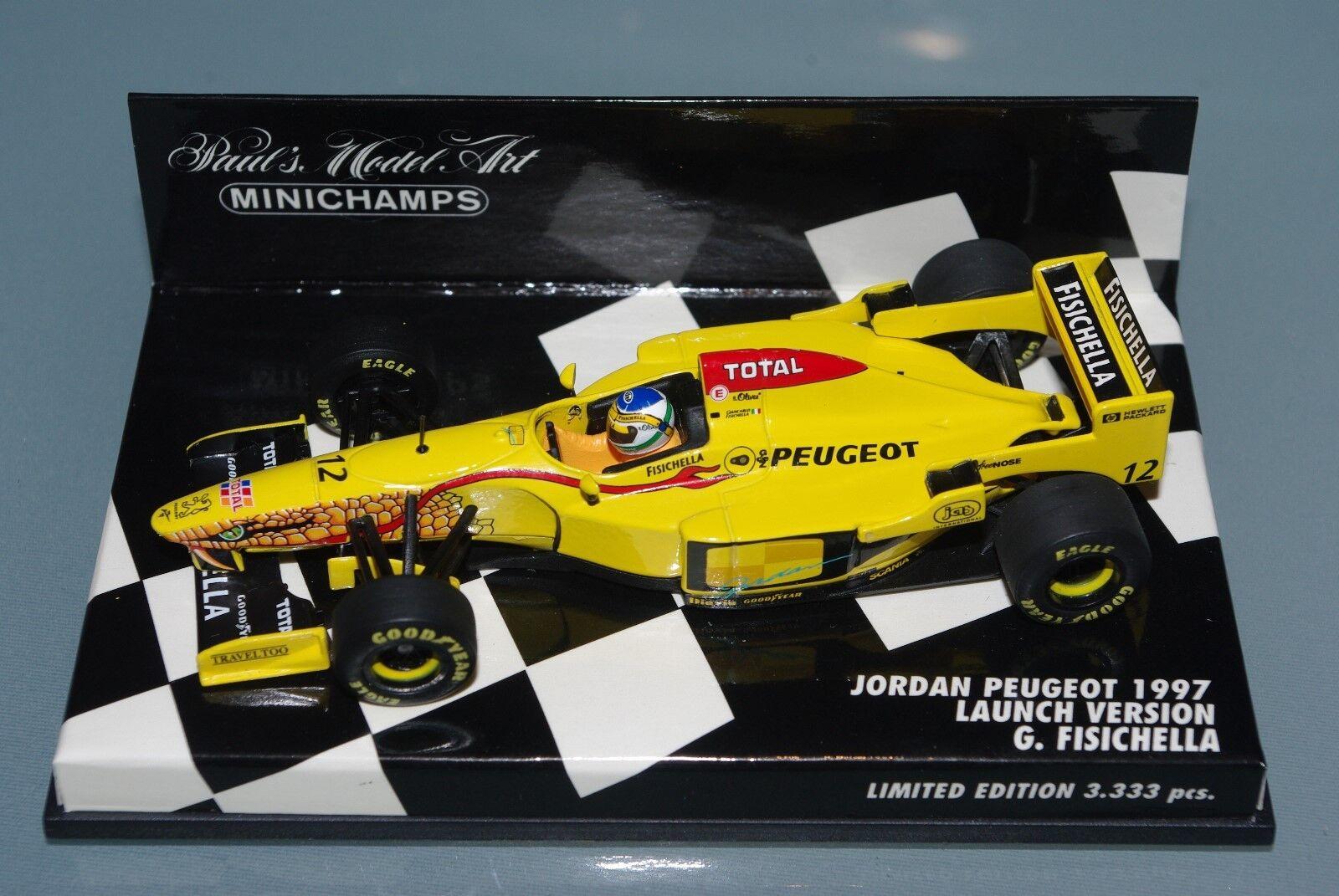 Minichamps F1 1 43 Jordan Peugeot 1997 lanzamiento Versión-Giancarlo Ferrari