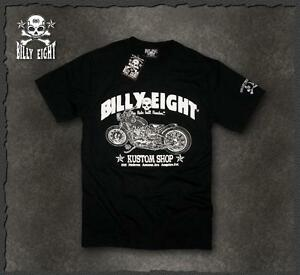 Mens-rockabilly-greaser-psychobilly-biker-punk-Billy-Eight-034-Kustom-Shop-034-T-shirt