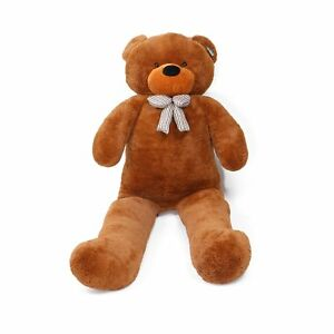 Joyfay-Teddy-Bear-Giant-Huge-90-034-Brown-Stuffed-Plush-Toy-Valentine-039-s-Gift
