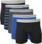 thumbnail 1 - Gildan Men's Short Leg Boxer Briefs 5-Pack, Black/Royal/Charcoal/Stripe, X-Large