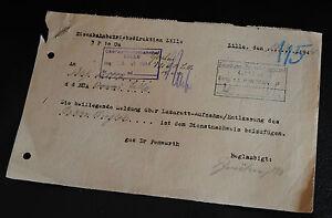 Deutsches reich très intéressant FP-lettre avec message de l'hôpital-afficher le titre d`origine JAAA0Jbb-07165127-831401017