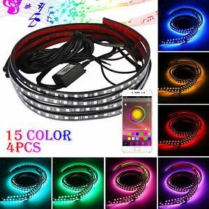 4PCS-Car-Underbody-RGB-LED-Tube-Strip-Underglow-Underbody-Neon-Light-APP-Control