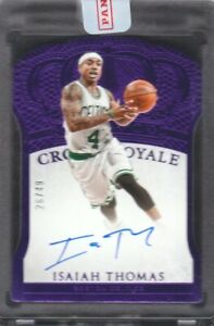 2015-16-Panini-Preferred-Autograph-Purple-172-Isaiah-Thomas-Auto-26-49-Celtics