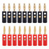 Gold Plated 20pcs Audio Speaker Wire Cable Banana Plug Connector Adapter 4mm