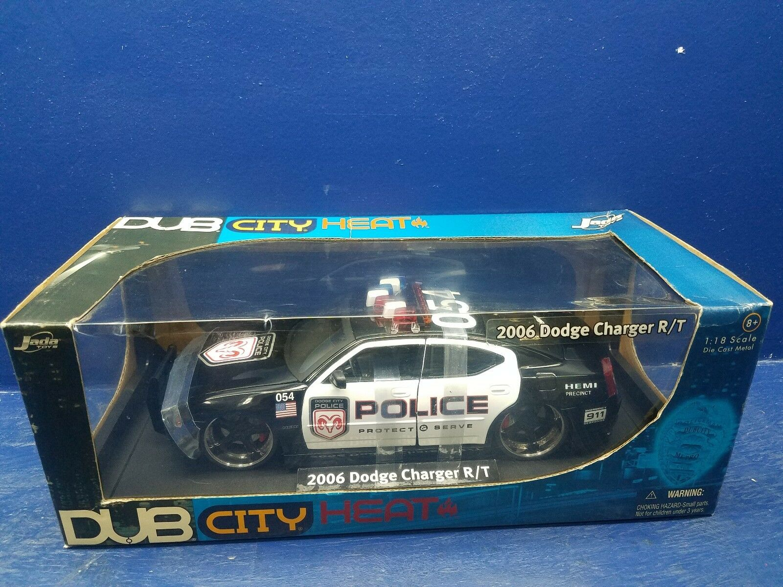 JADA DUB CITY 2006 charger RT 1 18 POLICE HEAT CARS charger R T JADA TOYS