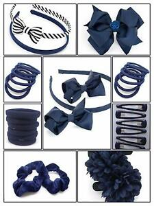 40x-NAVY-BLUE-GIRLS-SCHOOL-SET-ALICE-HAIR-BAND-HEADBAND-BOBBLE-PONIO-HEADBAND-UK