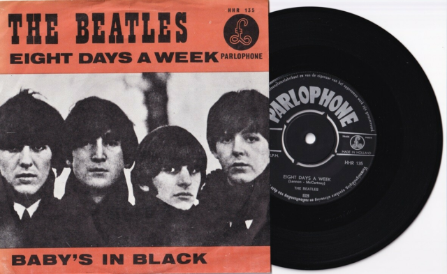 Single, Beatles, Div., Pop, 5 stk. singler med The Beatles…