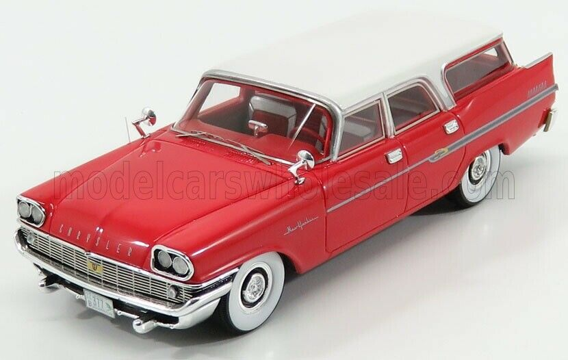 Wonderful modelcar CHRYSLER NEW YORKER TOWN & COUNTRY WAGON 1958 - 1 43 - red