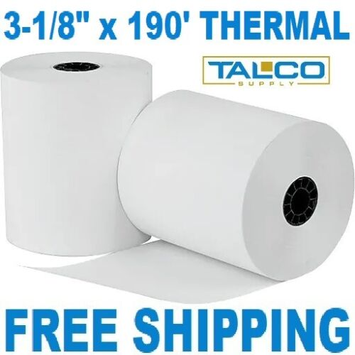 """2 3-1//8/"""" x 190/' THERMAL RECEIPT PAPER ROLLS  ~FREE SHIPPING~"""