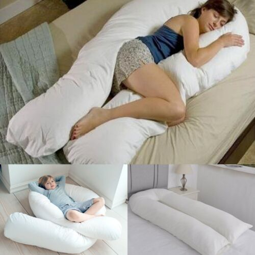 Duck Feather 9 FT C/_U Shaped Long Cuddly Maternity Pregnancy Support Pillow
