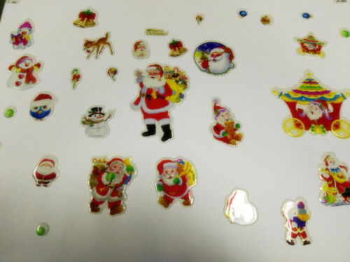 5 Sheets Christmas Stickers for Kids Xmas Craft Card-Making Home Wall Decor Gift
