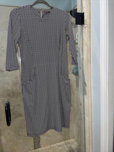 J. McLaughlin Women Black White Casual Dress M Poc