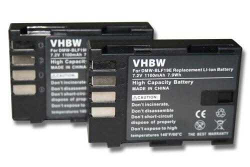 2x Batería para Panasonic Lumix DMC-GH3//Lumix DMC-GH4R DMC-G9