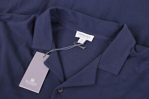 Sunspel-NWT-Button-Down-Short-Sleeve-Shirt-Size-XL-in-Navy