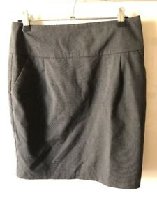 Hot-Options-Charcoal-Pencil-Skirt-Size-8