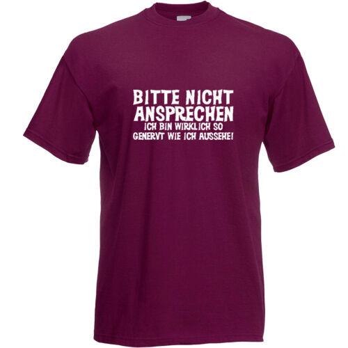 Bitte nicht ansprechen T-Shirt Kult Mottoshirt Funshirt Party Geschenk JGA