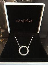 Genuine Silver Hearts of Pandora Necklace #590514CZ-45cm RRP £90