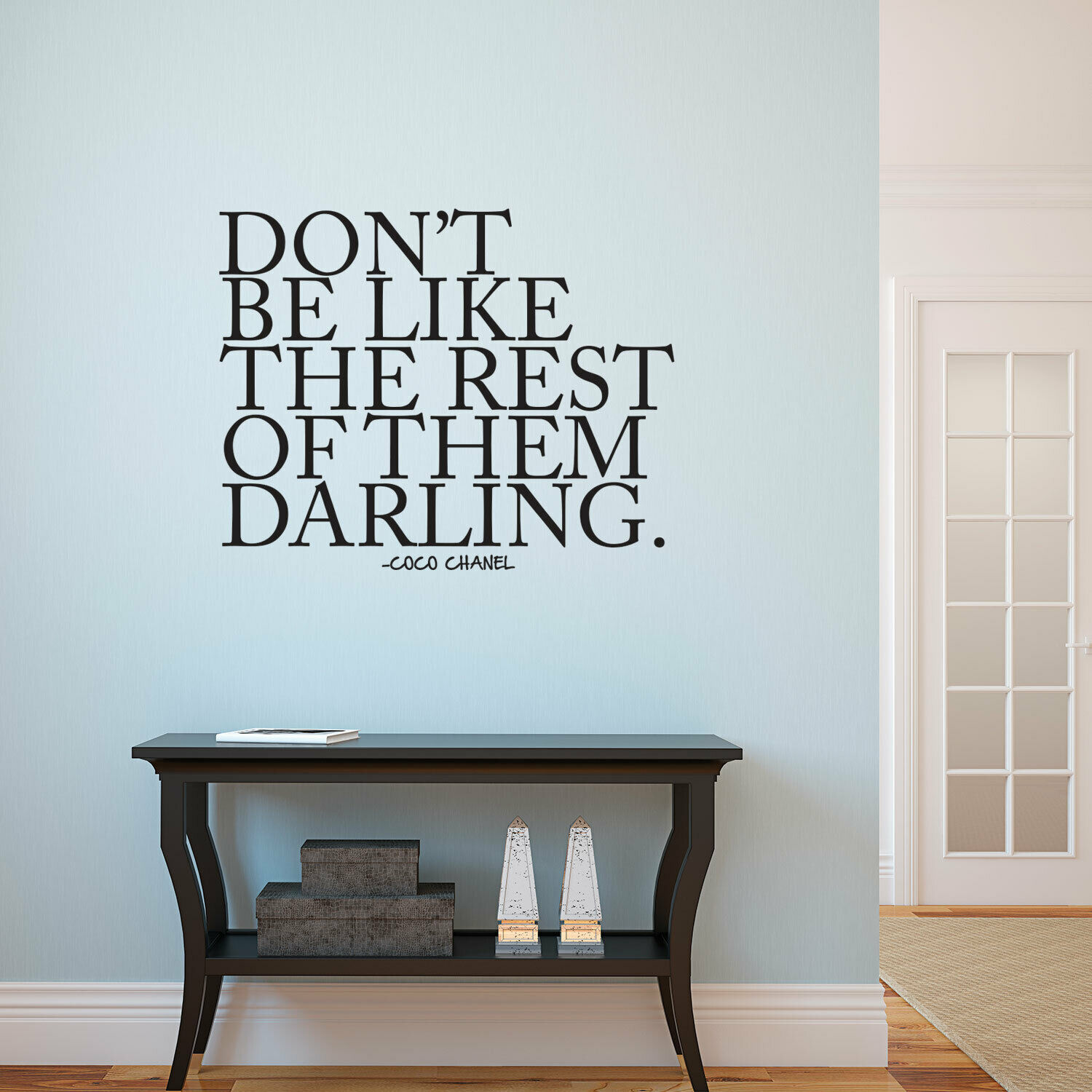 Don T Be Like The Rest Of Them Darling Coco Chanel Inspirational Quote Wall For Sale Online