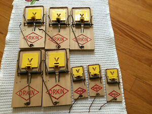 Vintage Orkin Professional Mouse Traps Hard To Find Ebay