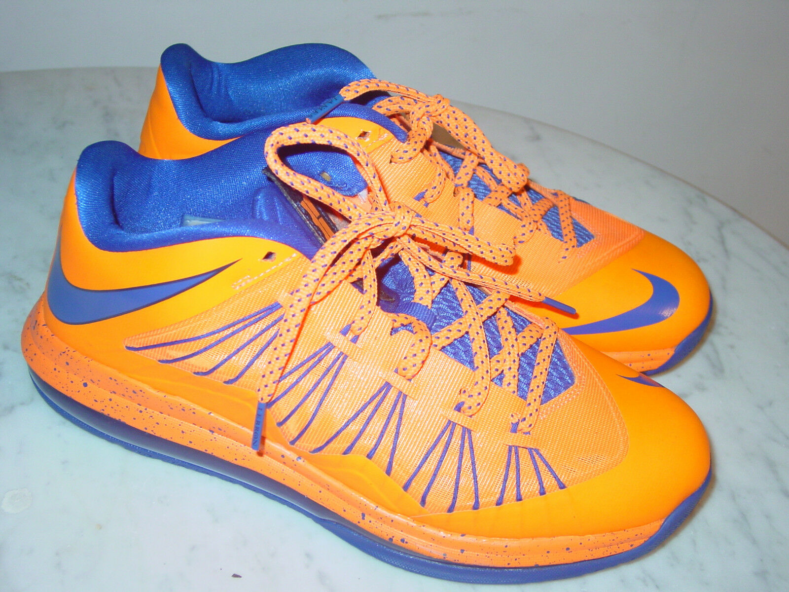 2012 Nike Lebron X Bright Citrus Hyper bluee Blackened bluee Low shoes  Size 9.5