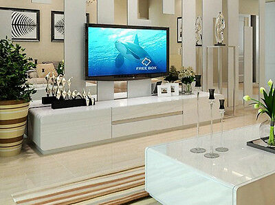 TV Entertainment Unit Modern High Gloss Stand Cabinet Lowline Drawers TV6 White