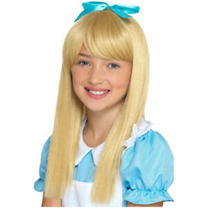 Smiffys-Alice-In-Wonderland-Princess-Blonde-Wig-Girls-Fancy-Dress-Hair-Accessory