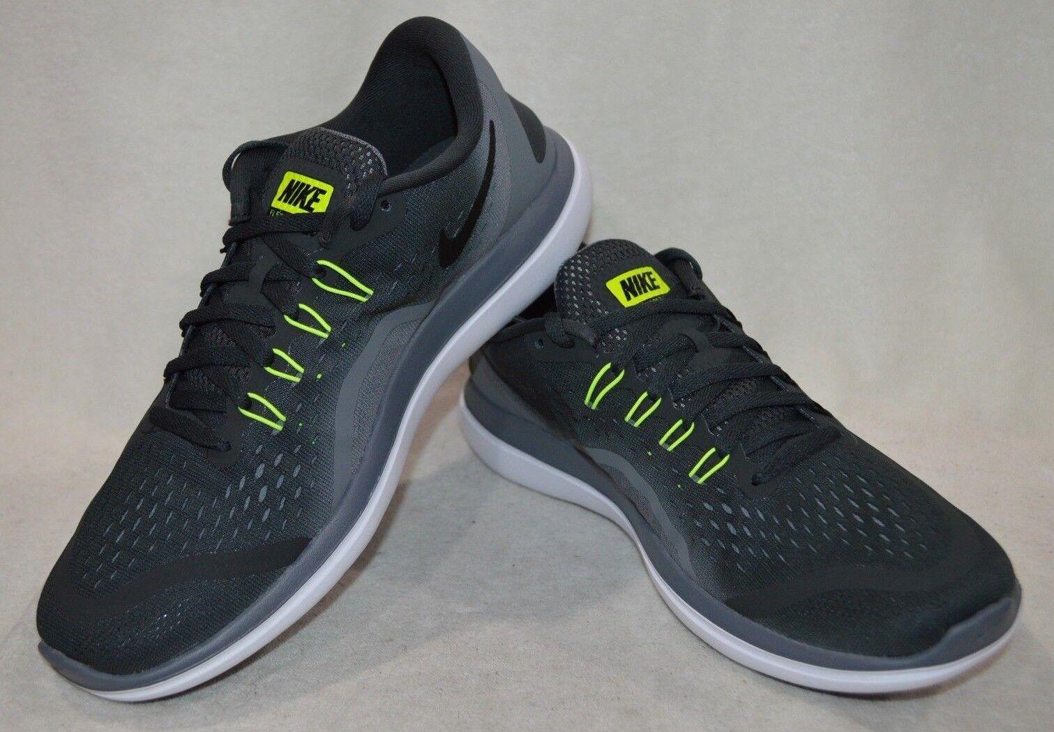 Nike Men's Flex 2017 RN Anthracite Volt Grey Running shoes-Assorted Sizes NWB