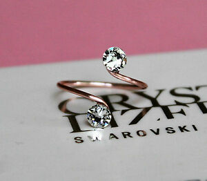 Rose-Gold-Plated-Toe-Knuckle-Ring-with-Clear-Swarovski-Crystals-Elements