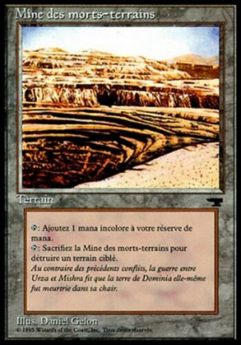 *MRM* FRENCH Strip Mine Mine des Morts-Terrains Excellent MTG Renaissance