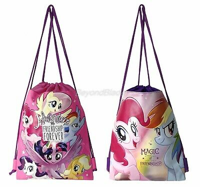 My Little Pony Set of 2 Drawstring backpack School Sport Gym Tote Bags