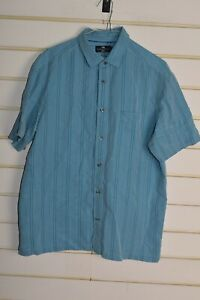 Blue-Harbour-Marks-and-Spencer-Mens-Soft-Touch-Shirt-Size-Large-Blue-RefC5