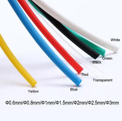 Clear Heat Shrink 0.6mm-18mm 2:1 Transparent Heatshrink Tubing Tube Sleeving
