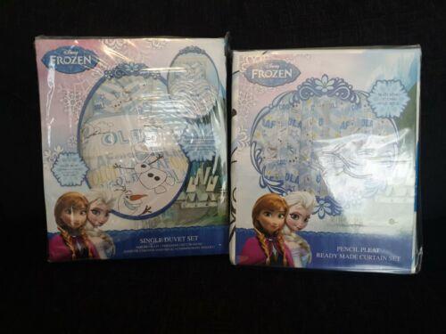 "Disney Frozen Olaf Single Duvet Cover Set /& curtain set 66/"" x 72/"""